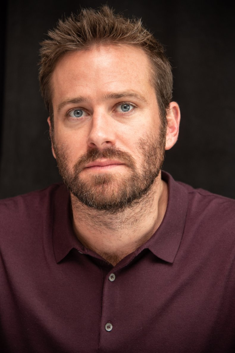 Armie Hammer at a press conference