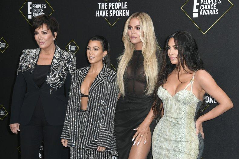 Kim Khloe Kourtney Kardashian and Kris Jenner