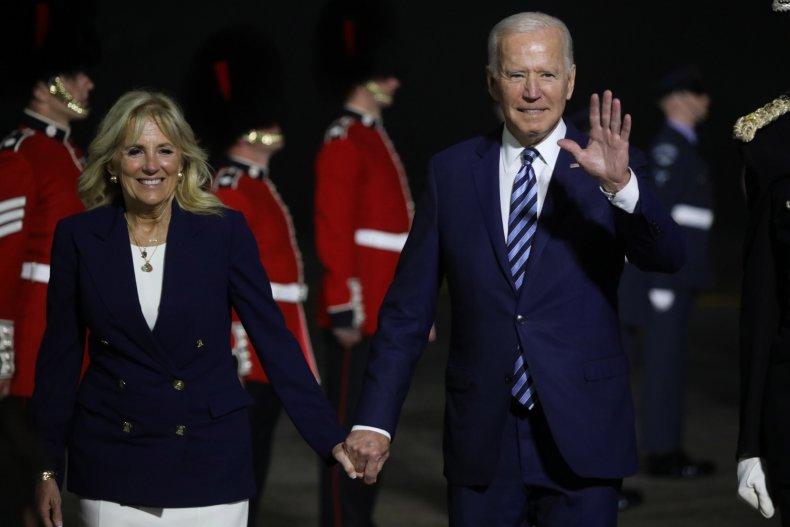 Joe Biden Arrives in the U.K.