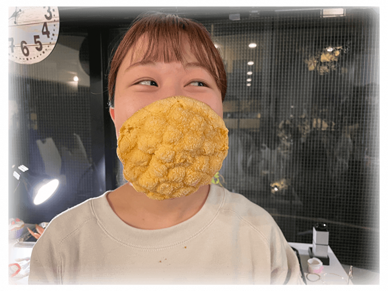 """Japan's """"Mask Pan"""" made from bread."""