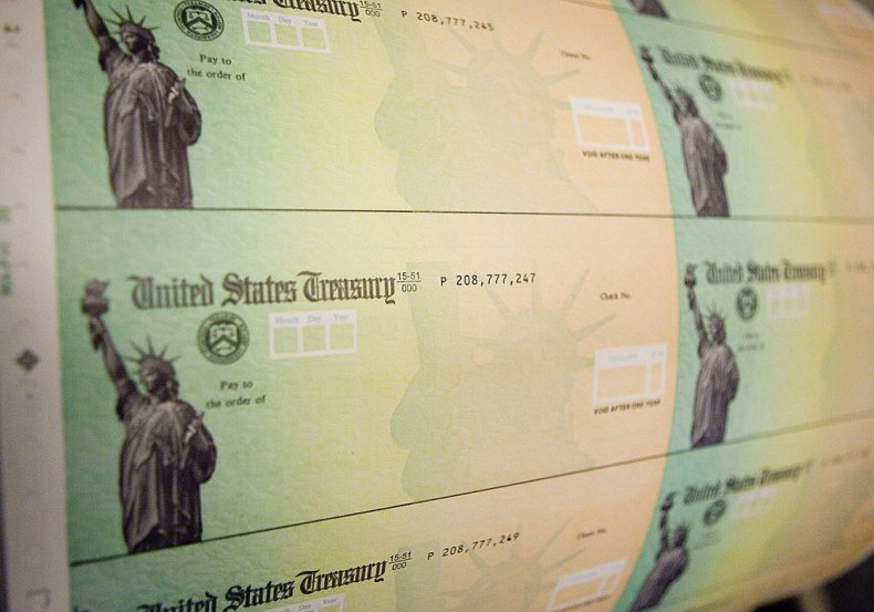 Stimulus checks ready for print