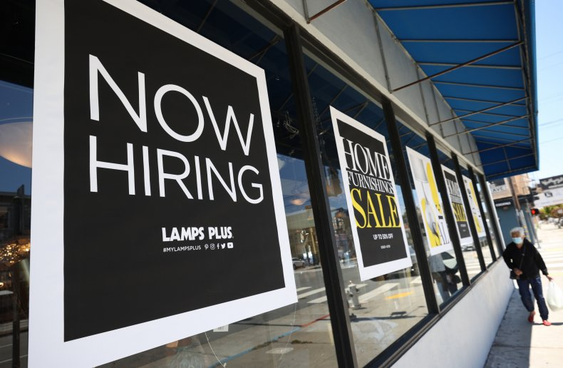 Now Hiring Sign in California