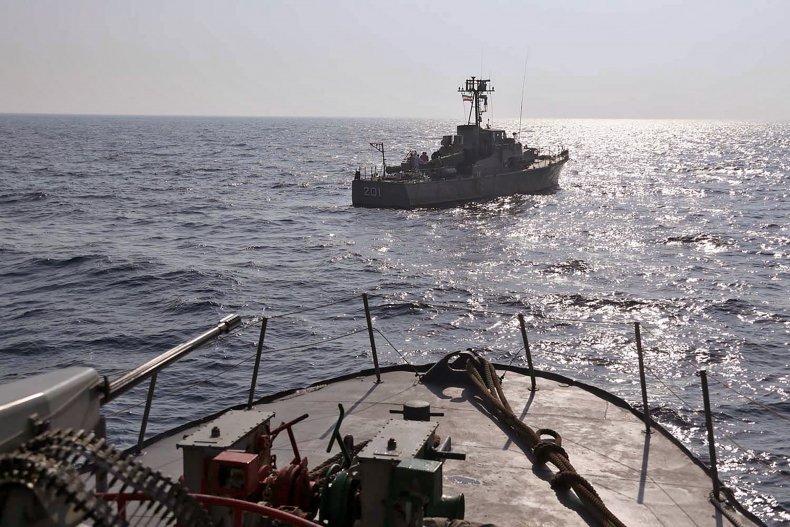 Iranian Army Warship Sea of Oman