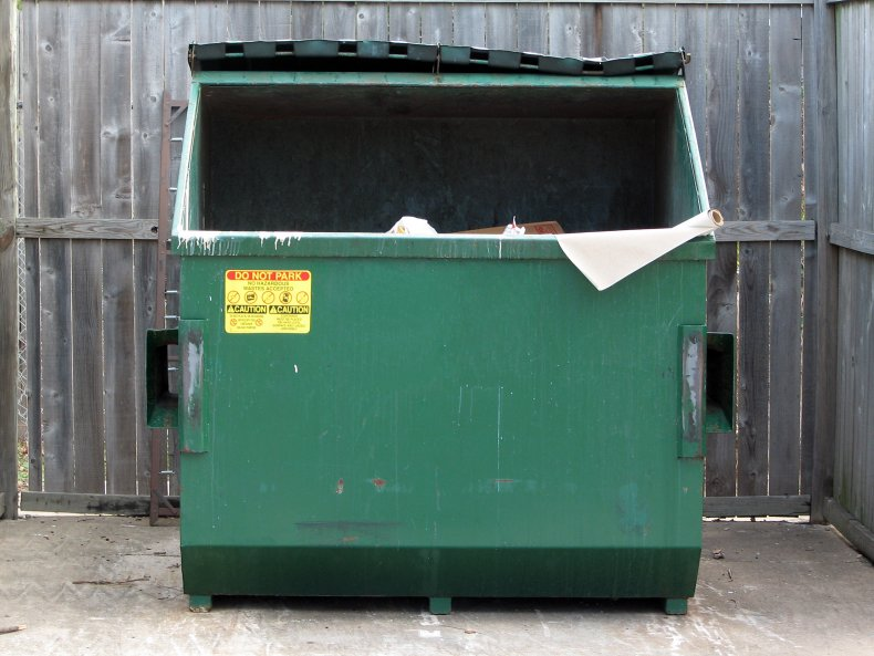 Stock image of a dumpster