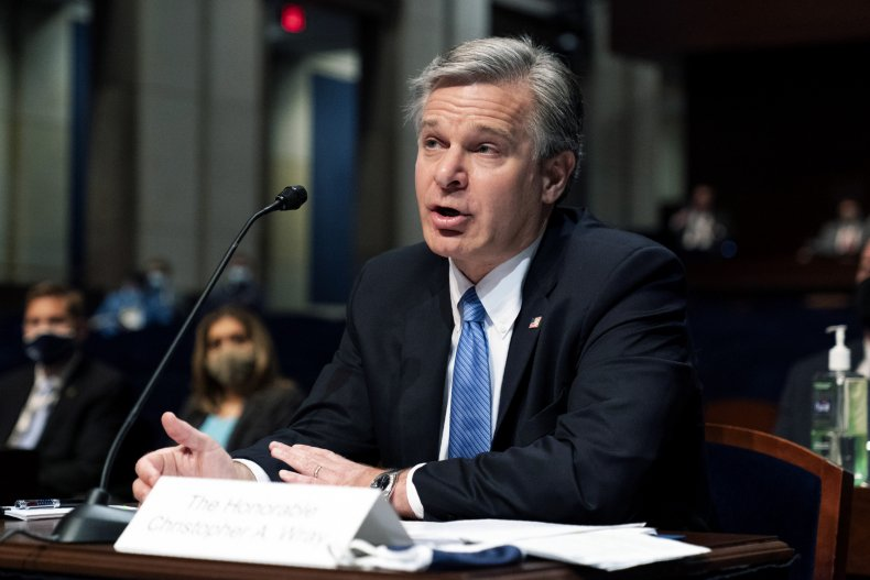 FBI Director Christopher Wray Testifies at Hearing