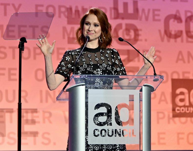 Ellie Kemper speaks onstage during the 2019