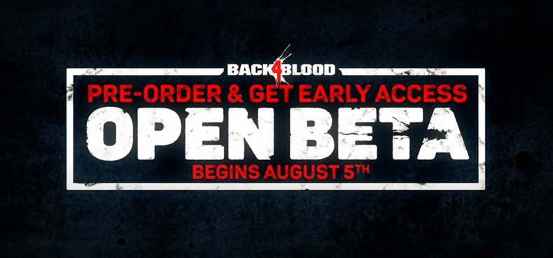 A Promotion for Back 4 Blood's Beta