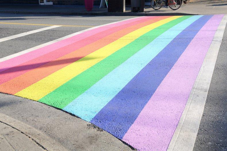 LGBTQ + pedestrian crossing