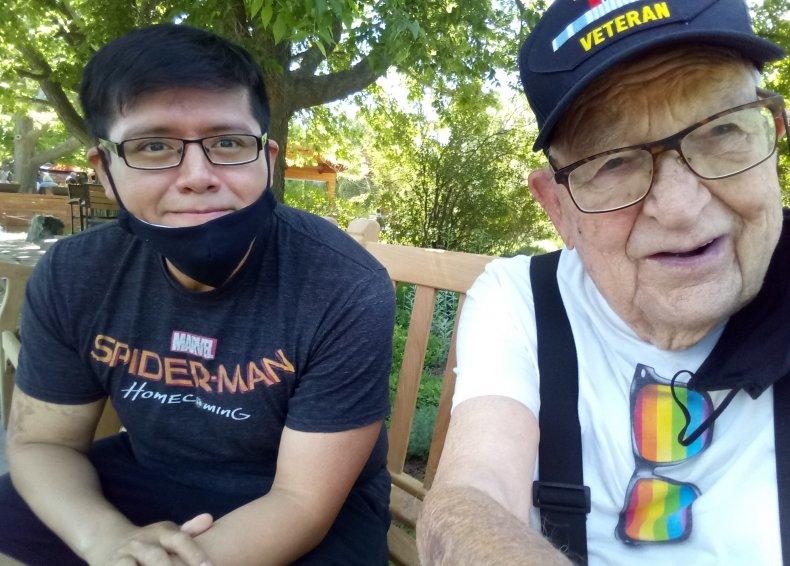 Kenneth and John at Denver Botanic Gardens