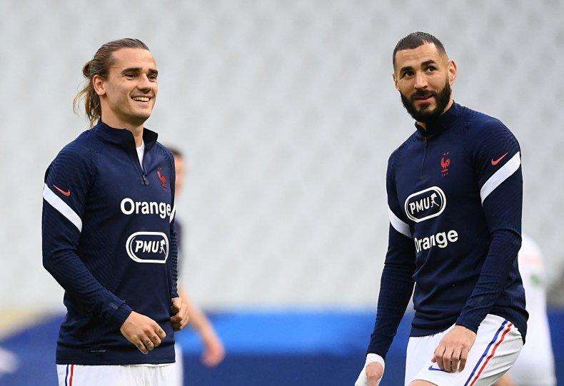 Antoine Griezmann and Karim Benzema