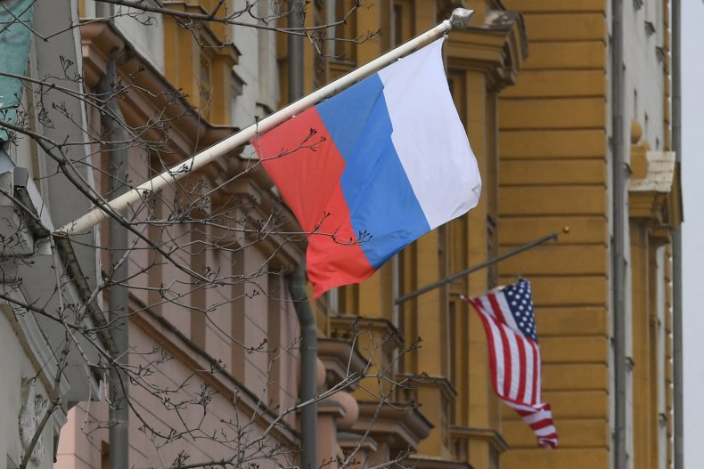 Russian flag United States Embassy