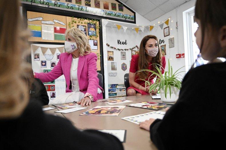 Jill Biden Kate Middleton Visit School