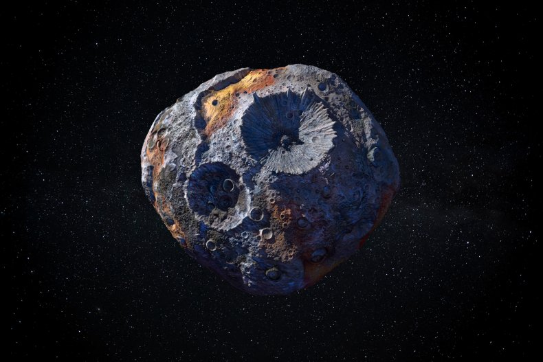 Artist's illustration of the asteroid 16 Psyche