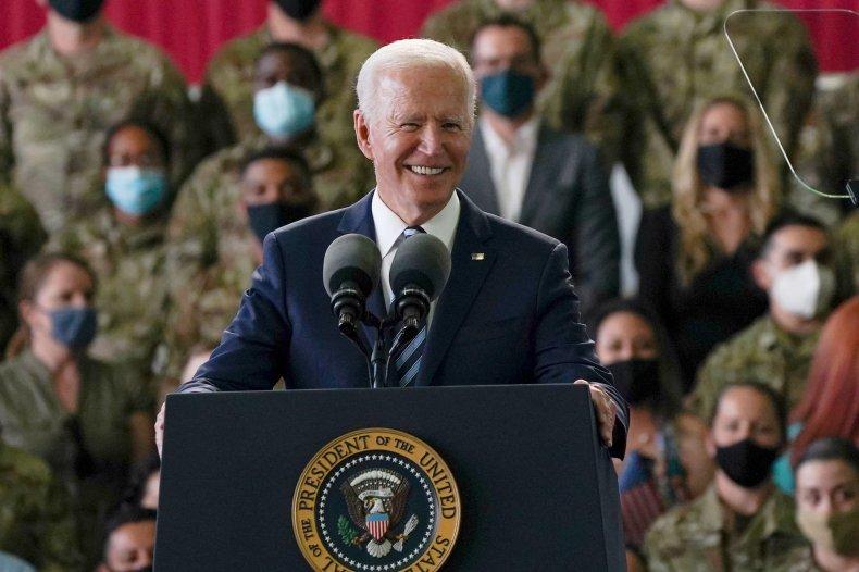 US President Biden arrives at G7