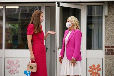 Kate Middleton and Jill Biden meet