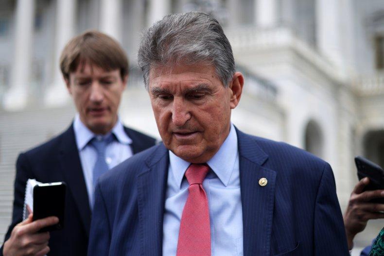 Senator Joe Manchin (D-W.Va.) leaves the Capitol