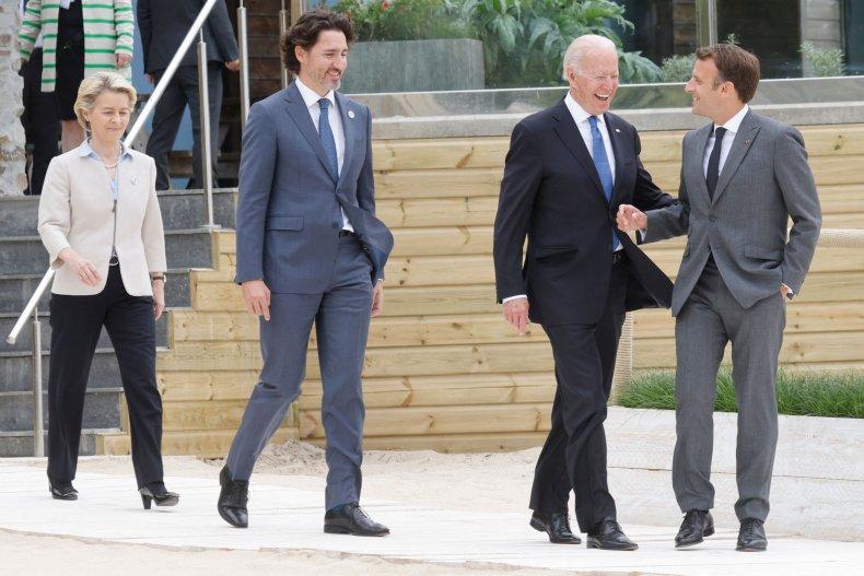 Joe Biden hits first G7 summit