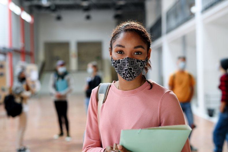 College Student with mask