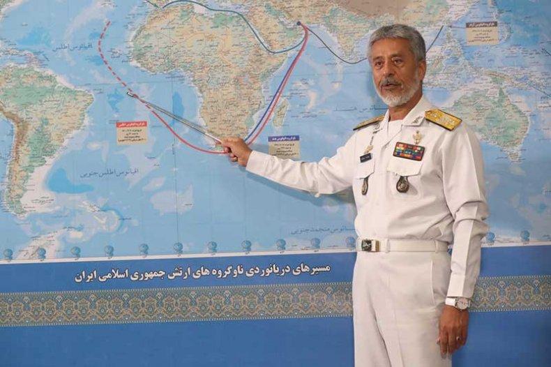 Iran, Rear, Admiral, Sayyari, discusses, Atlantic, mission