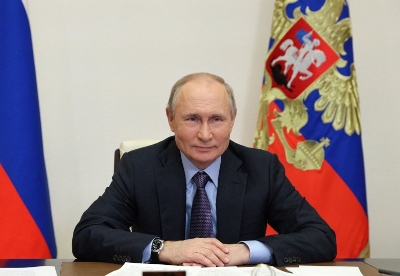 Vladimir Putin Attends a Launching Ceremony