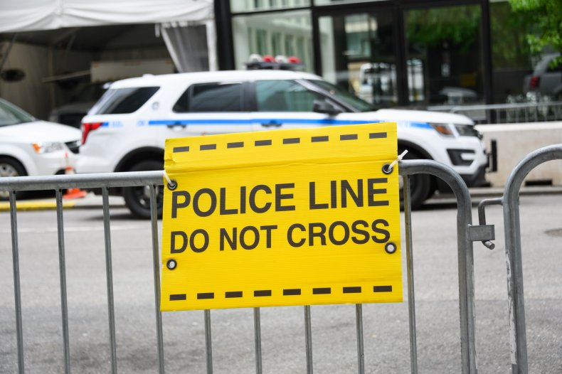 A Police 'Do Not Cross' Sign