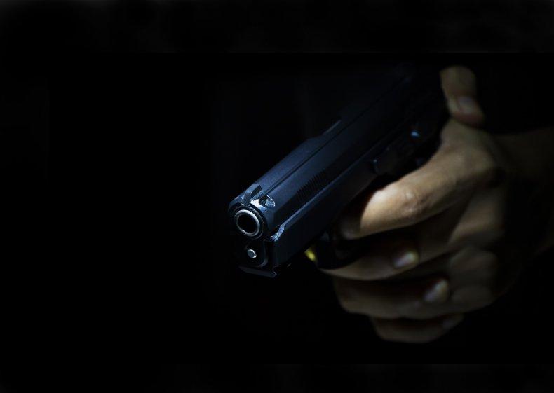 gunman stock photo