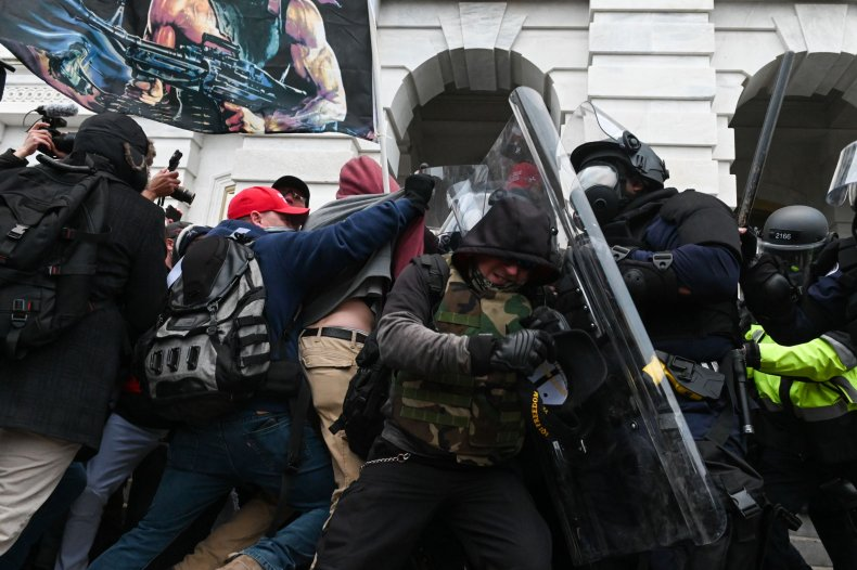 Capitol rioter Brian Mock charged assaulting officer