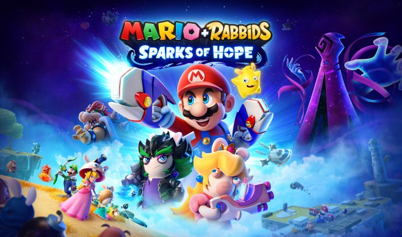 Mario + Lapins Crétins: Artuvres d'art Sparks of Hope
