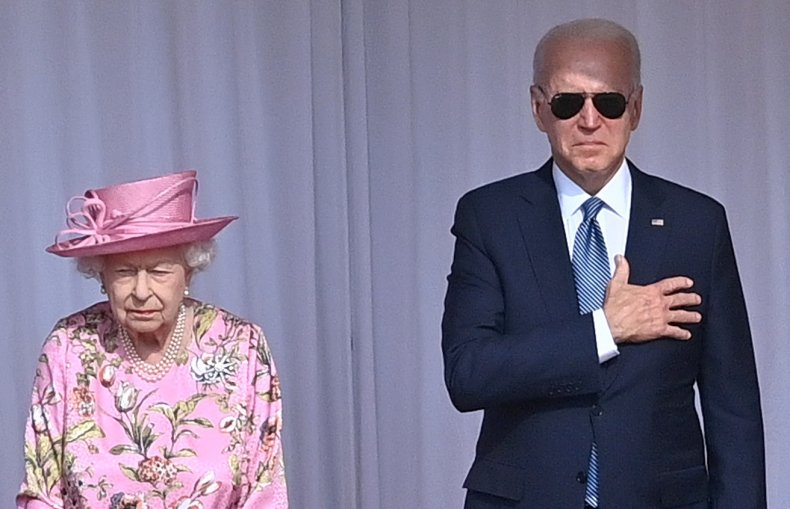 Joe Biden Meets Queen in Sunglasses
