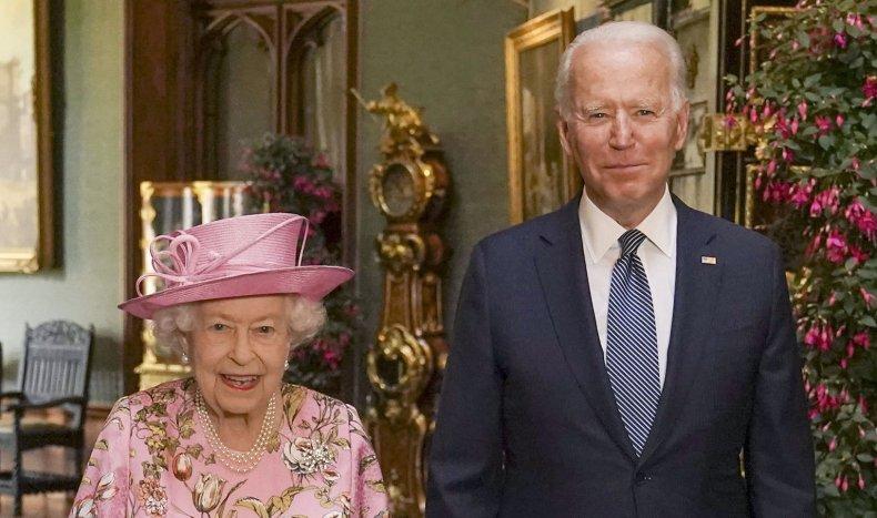 Joe Biden Meets the Queen for Tea