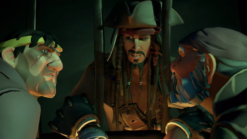 Captain Jack Sparrow in Sea of Thieves