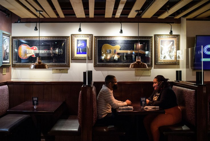 Unvaccinated comfortable with going to bars, restaurants