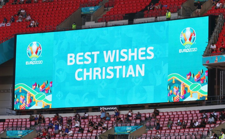 Message of support for Christian Eriksen