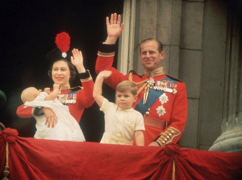 Queen Elizabeth II and Baby Prince Edward
