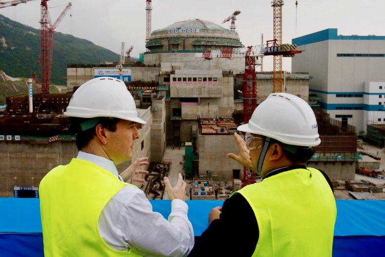 George Osborne at Taishan nuclear power plant