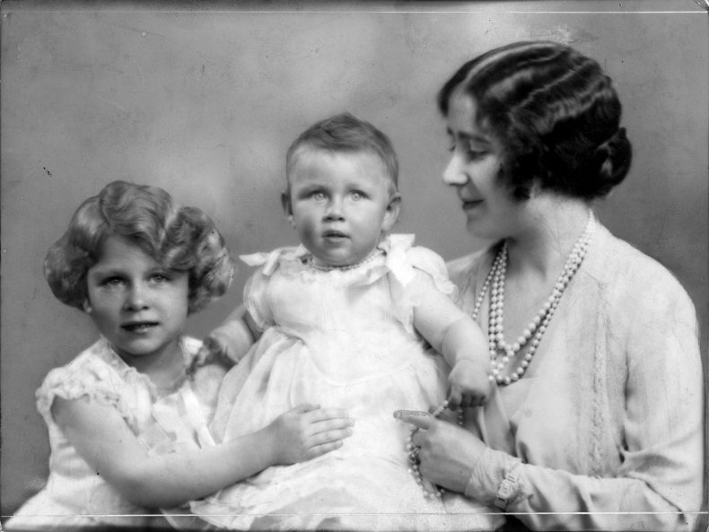 Queen Elizabeth With Mother and Sister