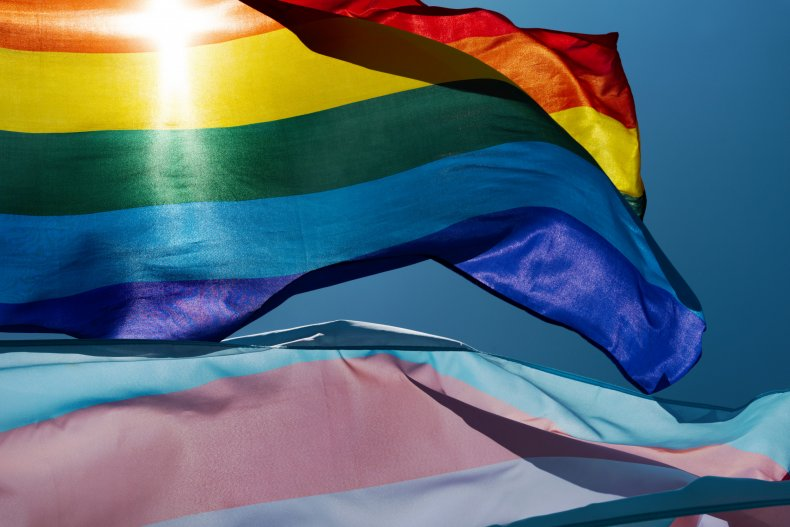 Gay and trans pride flags