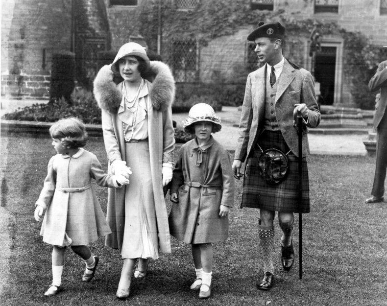 Queen Elizabeth II With Parents