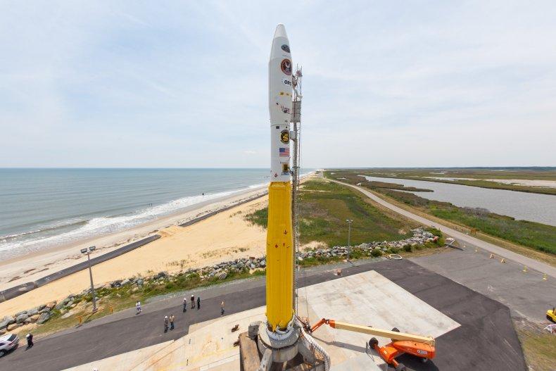 Minotaur I rocket at Wallops facility