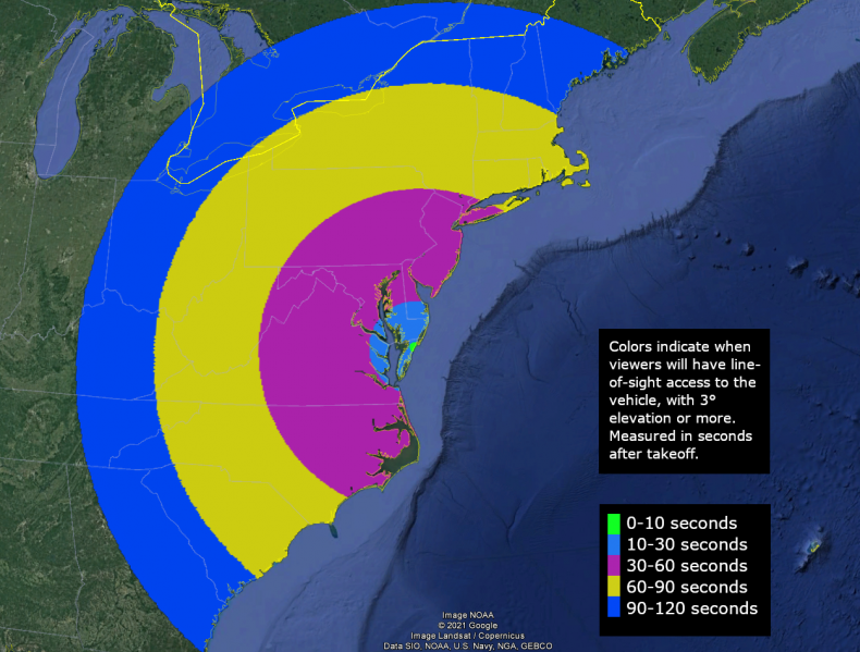 NROL-111 launch map