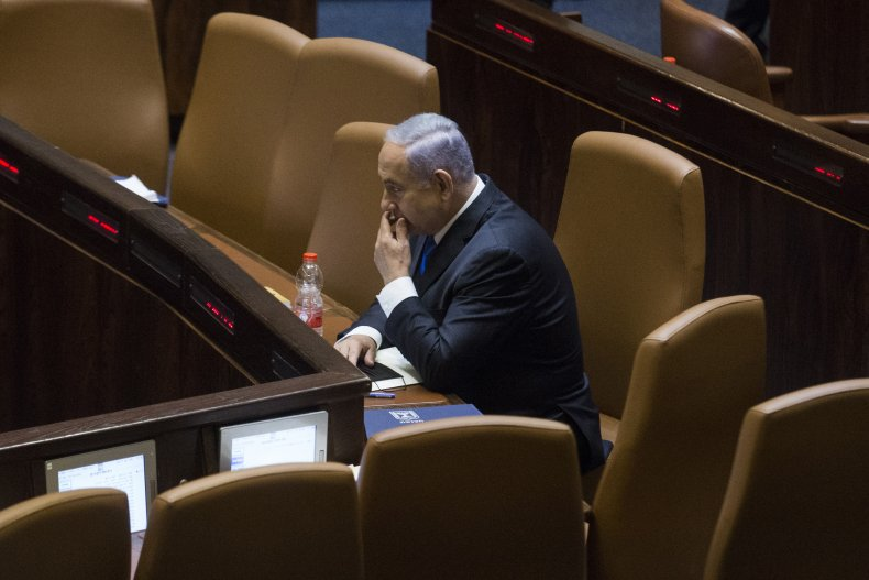 Netanyahu in the Knesset New Government Approval
