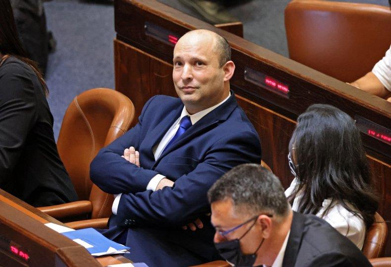Naftali Bennett attends Knesset session