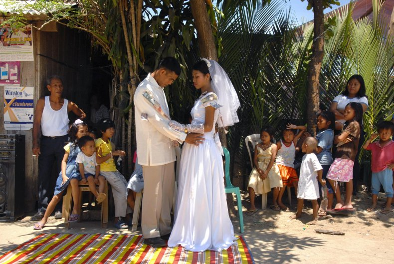 A wedding in the Philippines in 2007.