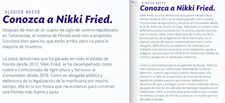 nikki fried spanish comparison final