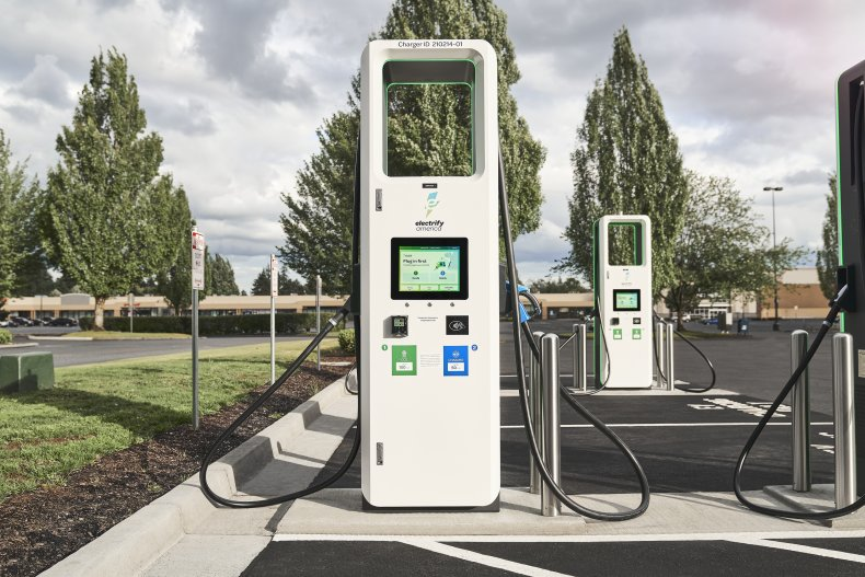 Electrify America DC fast charging station Vancouver