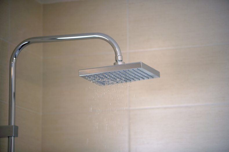 Shower and Tile Wall