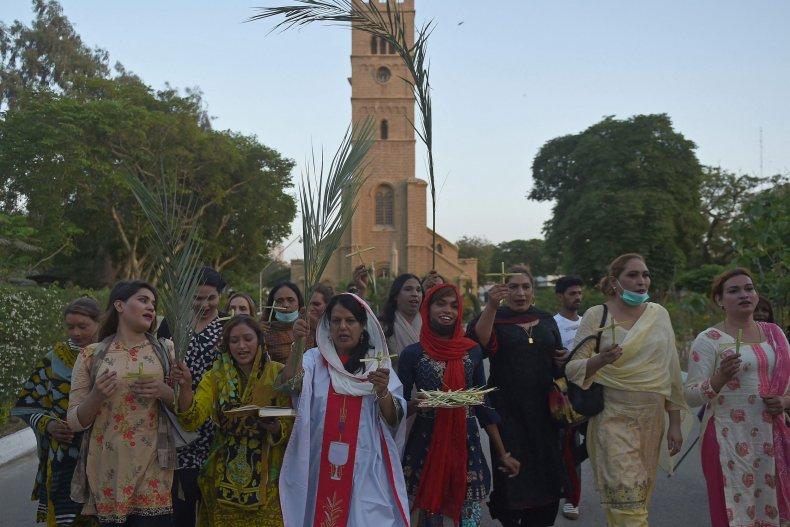 Pakistan's transgender community attends a church service