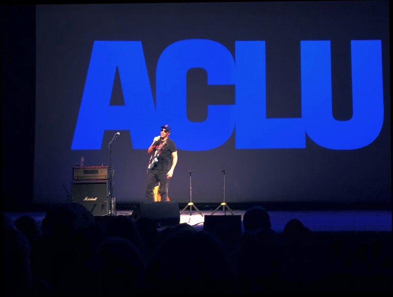 NEW YORK- SEPTEMBER 18: Tom Morello relates