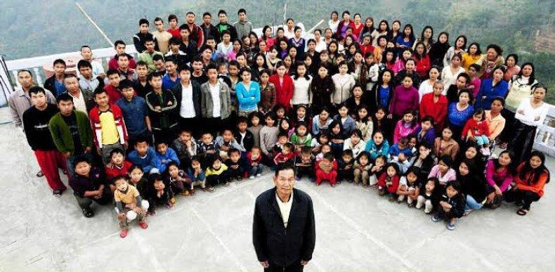 ziona chana pawl world's largest family