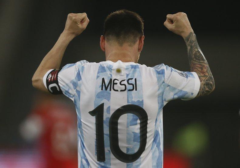 Lionel Messi at the Copa America